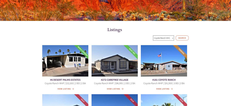 Website Feature Listing Module | Listing Module